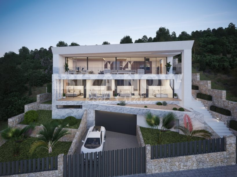 New to build 5 bedroom modern villa close to Ibiza Town, Ibiza, Spain.