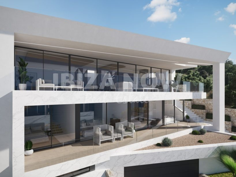New to build 5 bedroom modern villa close to Ibiza Town, Spain