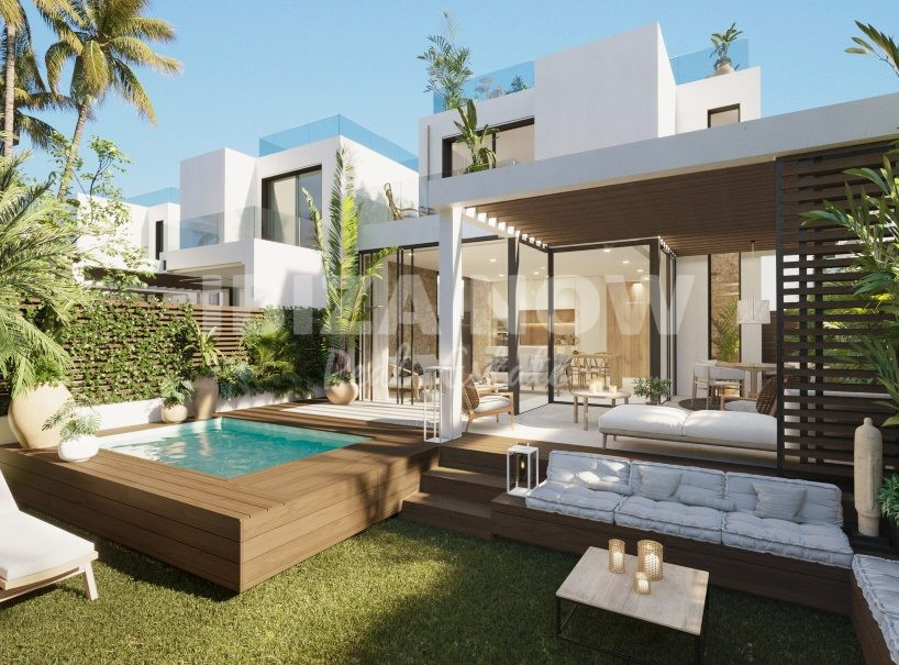 New build 3 bedroom houses within walking distance to the beach of Cala Tarida, Ibiza.