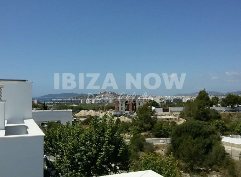 Modern 4 bedroom apartment with roof terrace for sale in Talamanca, Ibiza.
