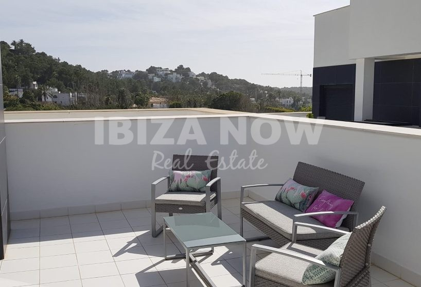 Modern 4 bedroom apartment with roof terrace for sale in Talamanca, Ibiza