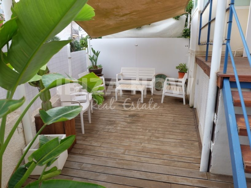 Large 2 bedroom ground floor apartment for sale in Talamanca, Ibiza, Spain.