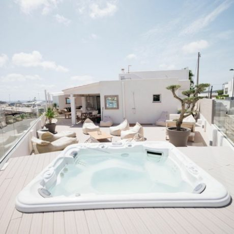Frontline 4 bedroom house for sale close to the beach and Ibiza town, Ibiza, Spain.