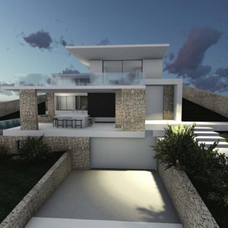 Plot with a license to build for sale in Ibiza, Spain.