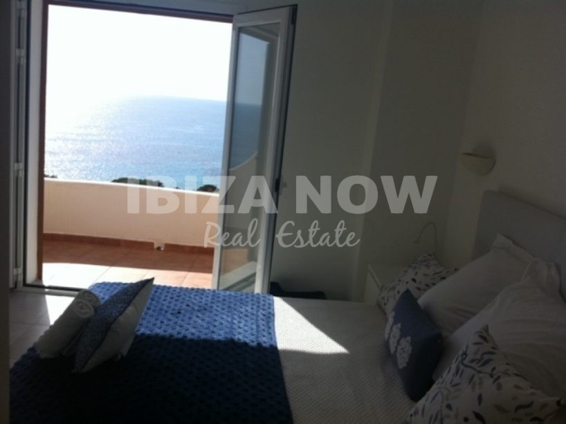 Renovated 3 bedroom front line beach townhouse for sale in Cala Tarida, Ibiza, Spain