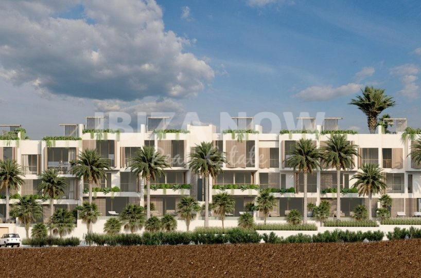 Luxury 3 bedroom apartments with sea view for sale in Talamanca, Ibiza