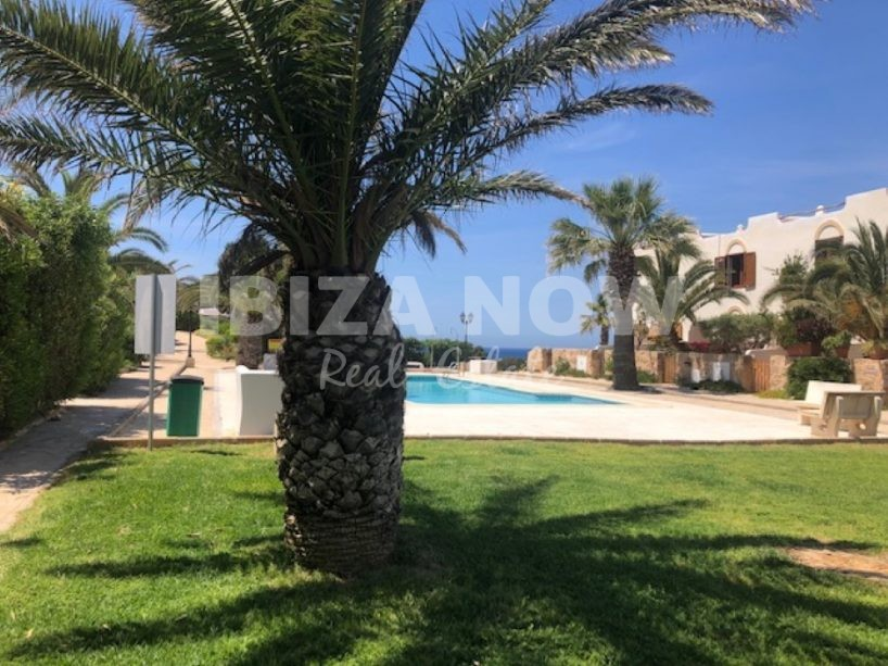 Renovated 3 bedroom front line beach townhouse for sale in Cala Tarida, Ibiza, Spain.