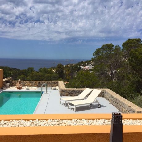 Nice 2 bedroom apartment with sea views for sale in Cala Carbo, Ibiza, Spain.